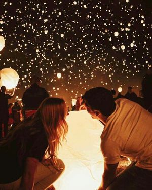 12) 3 foot tall Sky Lanterns Birthday Wedding Anniversary Memorial ...