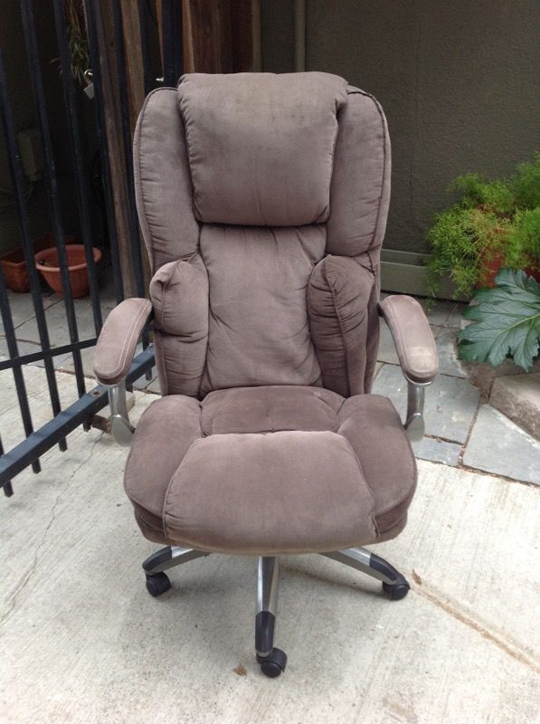 serta suede executive office chair (furniture) in san jose, ca