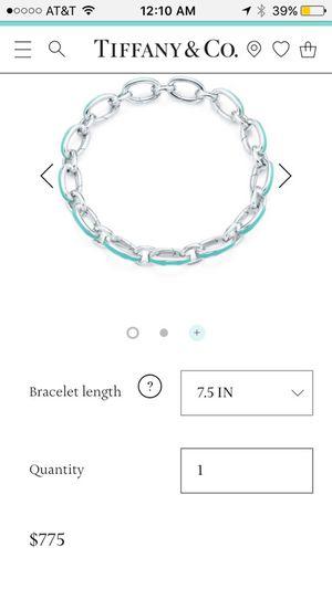 Tiffany & Co link charm bracelet