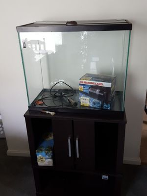 Aquarium (29 gal) and Stand