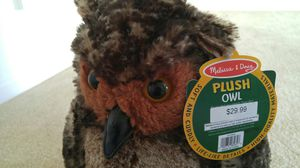 New with tags Melissa and Doug stuffed owl toy