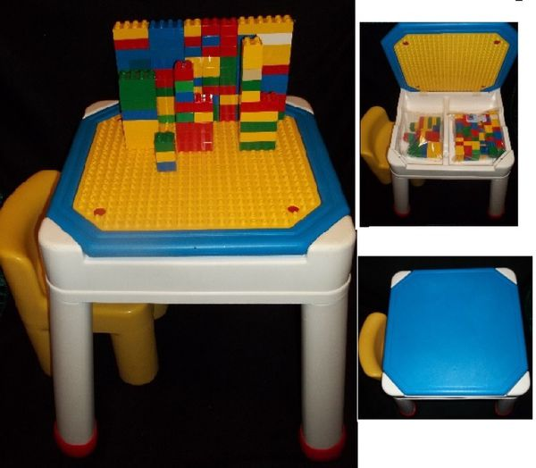 Fisher price Lego duplo table fits duplos and mega blocks (Baby ...