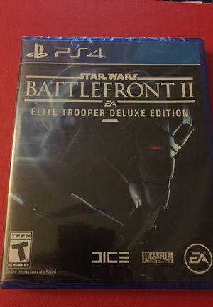 New Sealed Star Wars Battlefront 2 Elite Trooper Deluxe Edition PS4