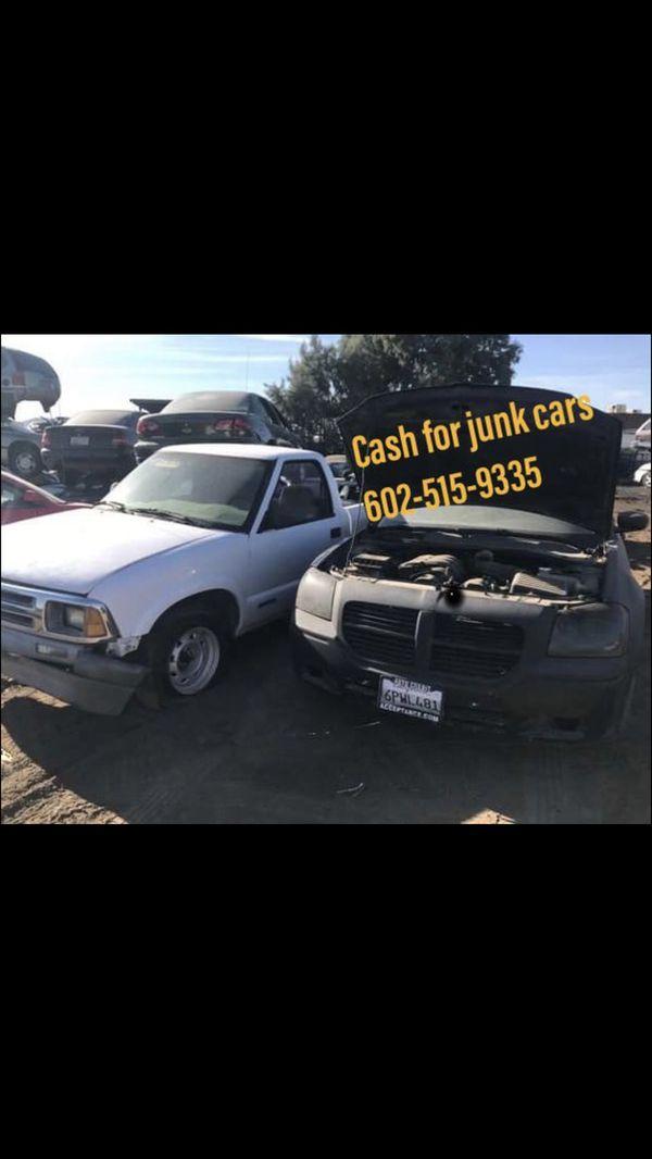 I buy junk cars (Auto Parts) in Phoenix, AZ