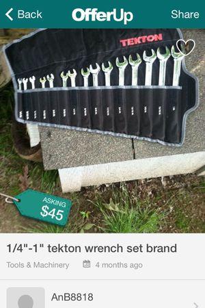 """1/4-1"""" tekton wrench set like new"""