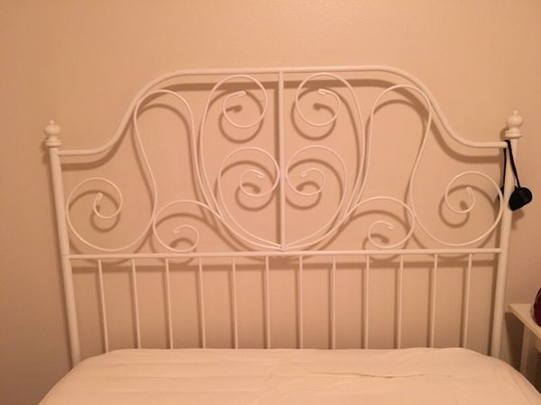 White metal bed frame full size furniture in seattle for Furniture movers seattle