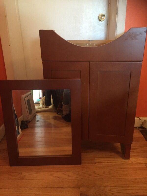 Bathroom vanity double doors mirror household in for Bathroom b q offers