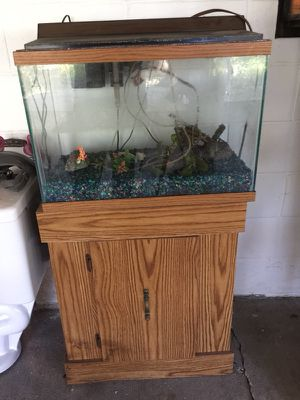 Small aquarium and stand