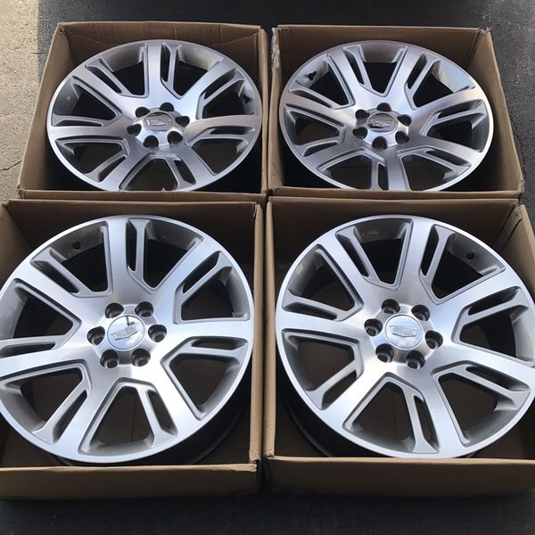 "Used Cadillac Escalade Parts For Sale: 2016 22"" Oem Escalade Factory Wheels 22 Inch Gray Rims (Auto Parts) In Santa Ana, CA"