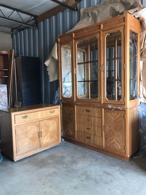 Maple sever, and china/display cabinet