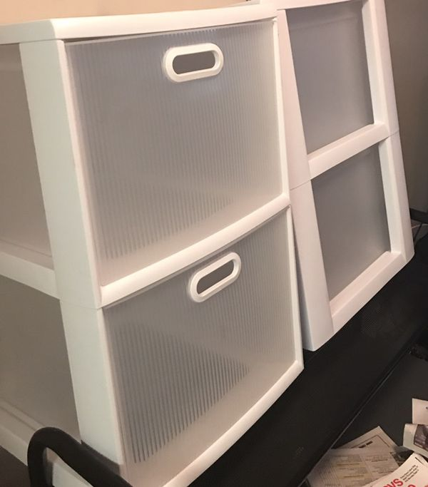 2 Drawer Plastic Cabinets $10 for both ($5 each)