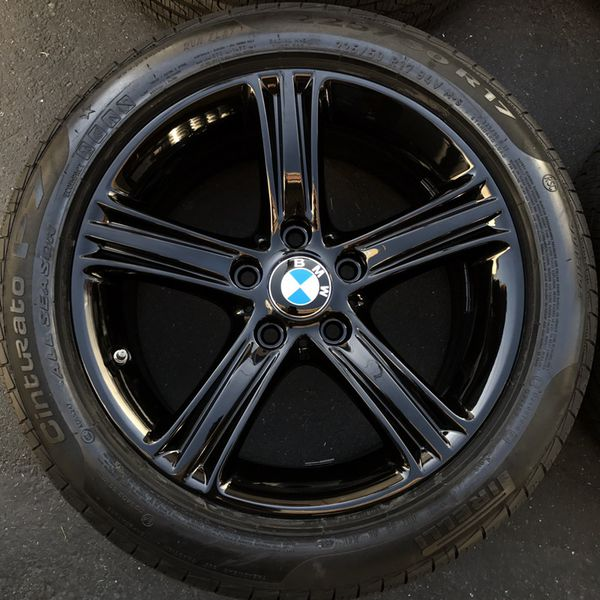 Oem BMW Series I Factory Wheels Inch Gloss Black Rims - Bmw 328i run flat tires