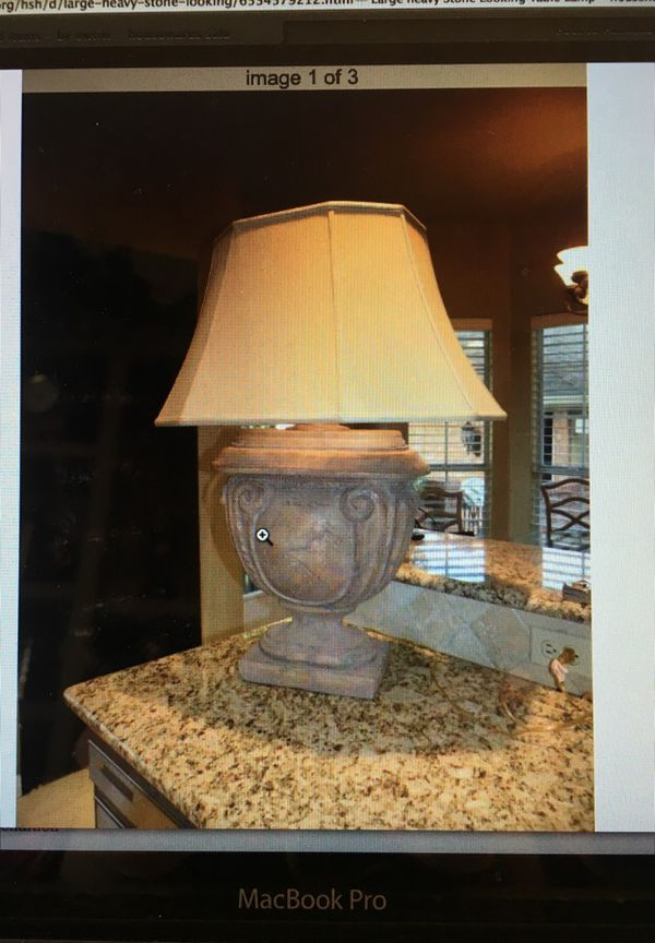 Large heavy stone looking table lamp household in austin tx offerup aloadofball Choice Image