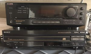 Sony receiver and 5 CD Player
