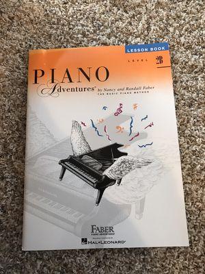 Piano lesson book (level 2B)