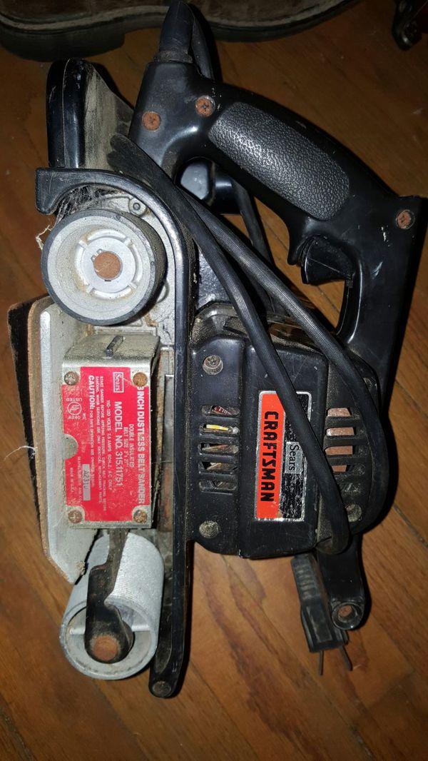 Craftsman 8 inch dustless belt sander 3x21 tools machinery in craftsman 8 inch dustless belt sander 3x21 sciox Image collections