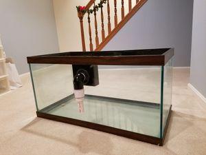 50 gallon Aquarium with through-glass overflow