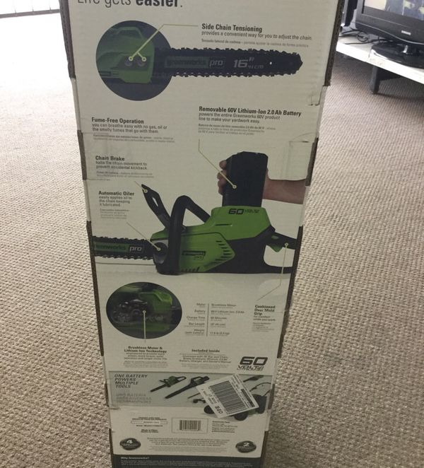 Greenworks Pro 60volt Chain Saw
