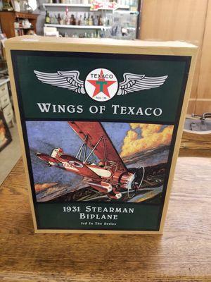 Wings of Texaco plane