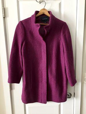 Wine Grape Land's End Boiled Wool Swing Parka, size 18W