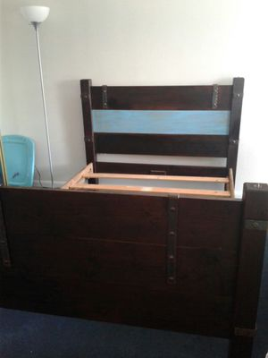 Farm bed, full size, real wood