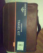Dockers leather hanging travel kit