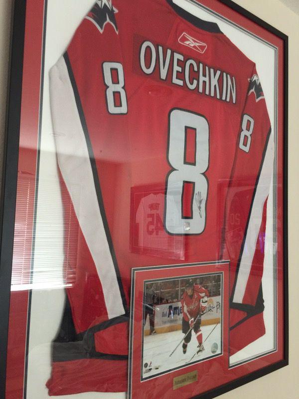 Alex Ovechkin autographed jersey frame OVI authentication ...