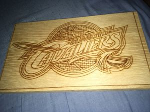 Wood made Cleveland Cavaliers logo