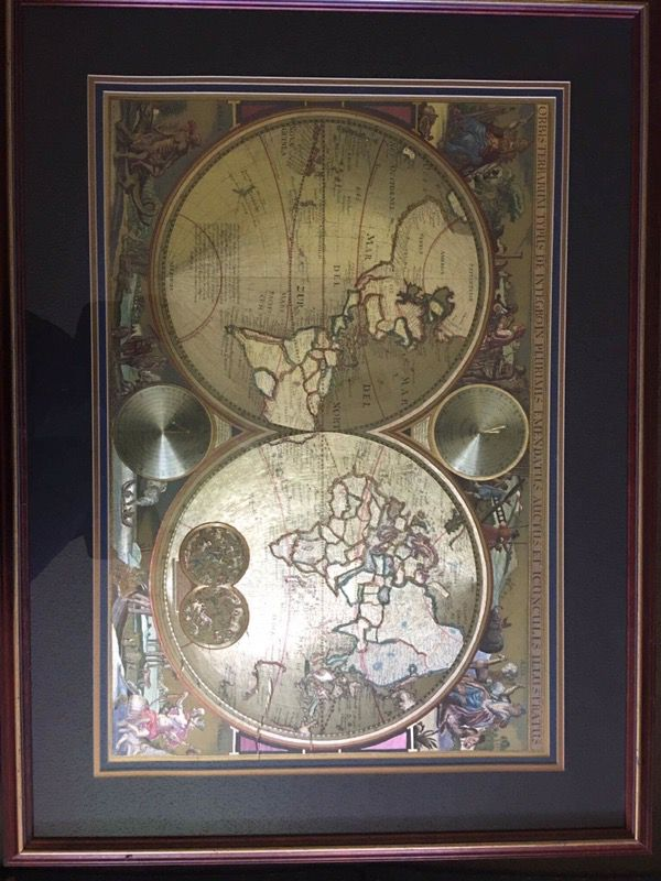 Double hemisphere gold foil world map collectibles in deerfield double hemisphere gold foil world map gumiabroncs Images