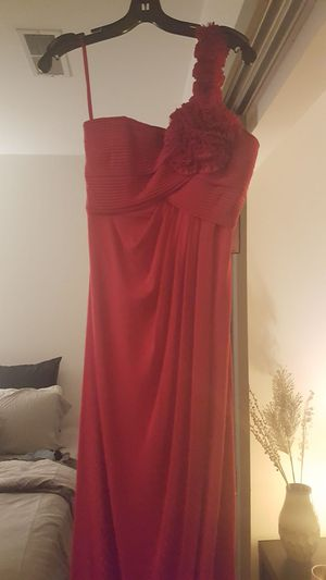 BCBG silk gown, red, BRAND NEW