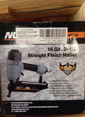 "2-1/2"" straight finish nailer"