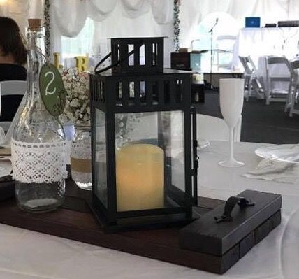 Wedding decoration wood tray black lantern mason jar and bottle wedding decoration wood tray black lantern mason jar and bottle i have 10 each general in queens ny offerup junglespirit Image collections