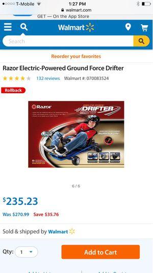 Razor drifter go cart
