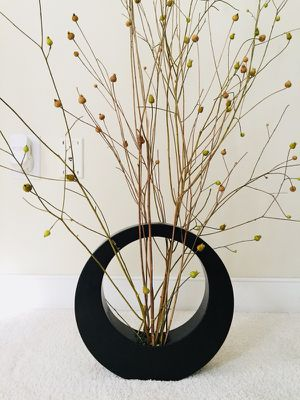 Brown Decorative Vase with Stems *Price Firm*