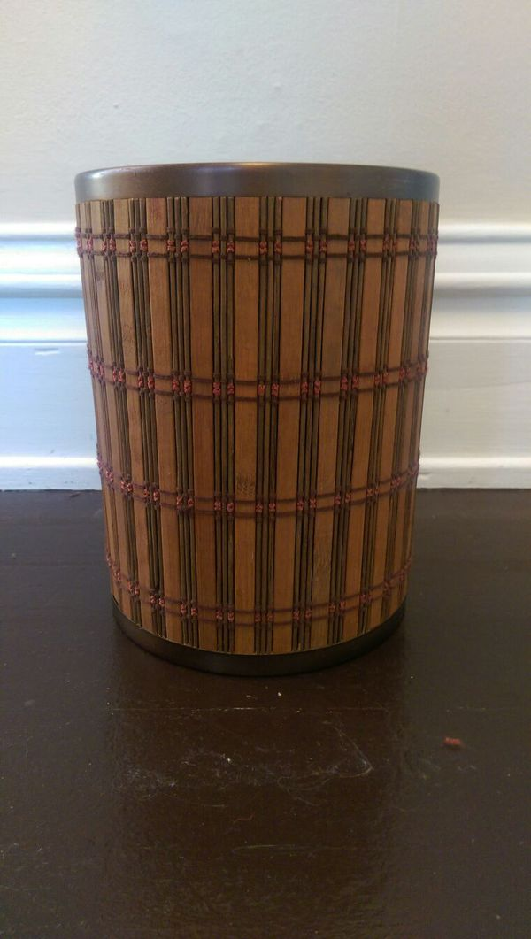 Decorative Waste Basket Trash Can Bin Household In