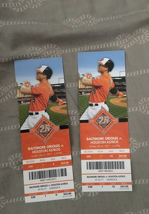 0's VS Houston Astros tickets $50 each