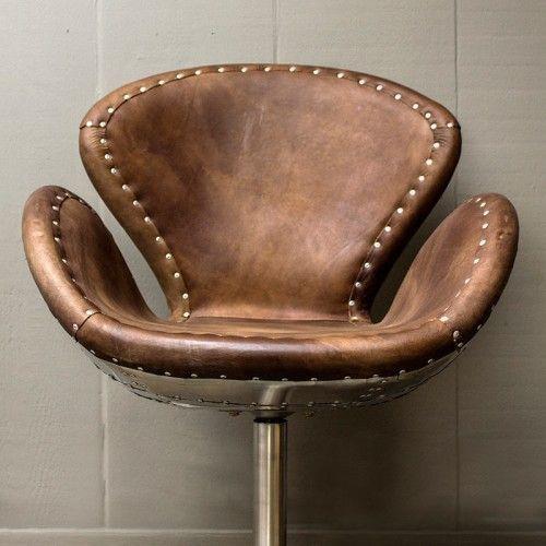 Restoration Hardware Devon Spitfire Leather Desk Chair