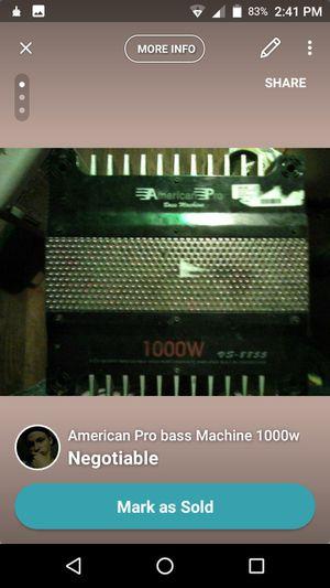 American pro bass machine 1000 Watts