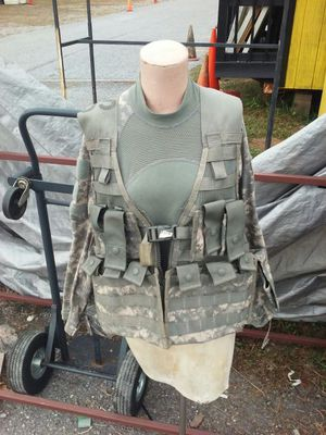"Military ""LOAD BEARING VEST"" with accessories"