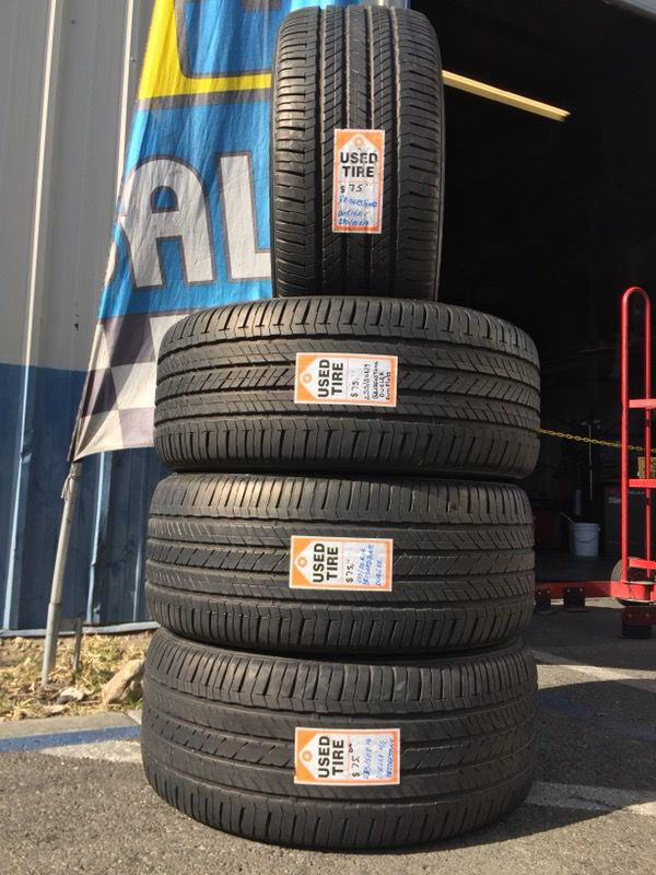 We Sell a set of four Used tires Runflats 255/50R19 BRIDGESTONE ...