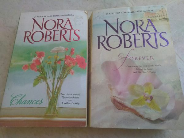 2 Nora Roberts Paperback Books Forever Chances Books Magazines