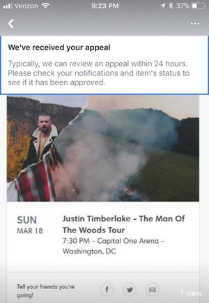 Justin Timberlake Tickets (2)