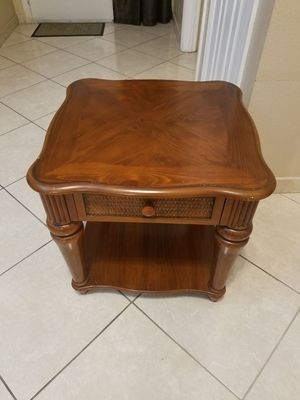 Real Wood Antique Coffee Table and Side table
