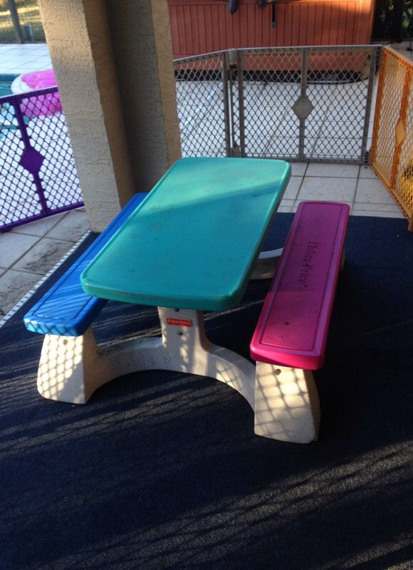 Fisher price kids picnic table general in spring hill fl offerup fisher price kids picnic table watchthetrailerfo