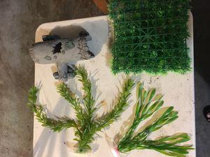 Aquarium Ornaments wood log plants and moss mat