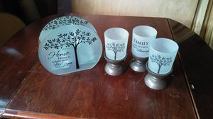 Glass candle set