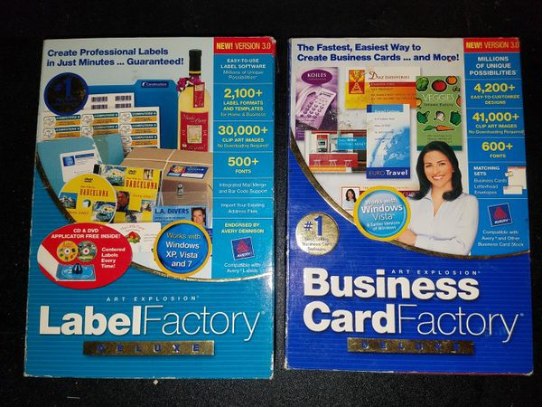 Pc small business software label factory deluxe and business card pc small business software label factory deluxe and business card factory deluxe reheart Gallery