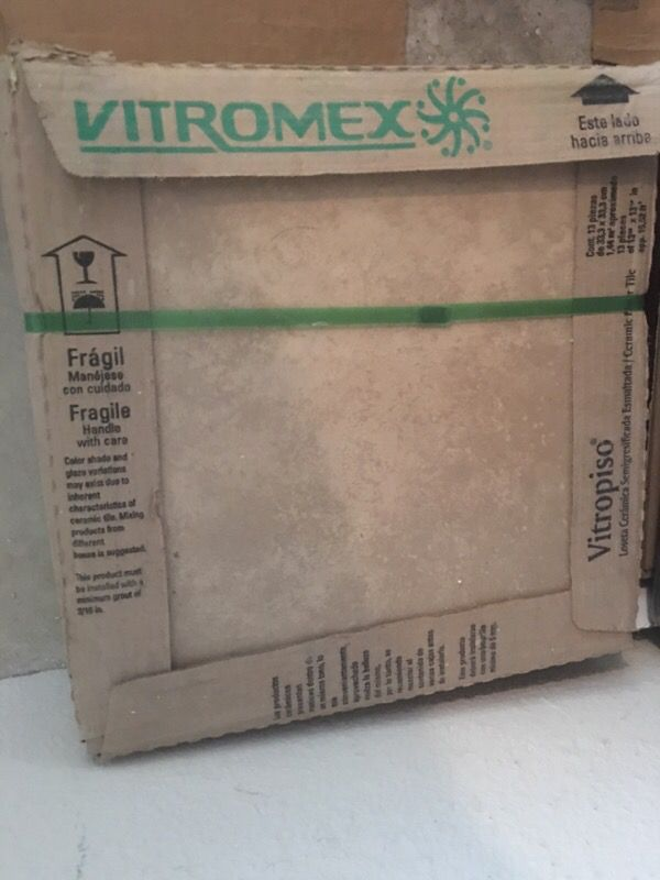 One box of Vitromex 13x13 Fioro Ivory floor tile 13 pieces (Home ...
