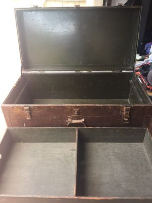1949 Military Footlocker - Original And Extremely Vintage
