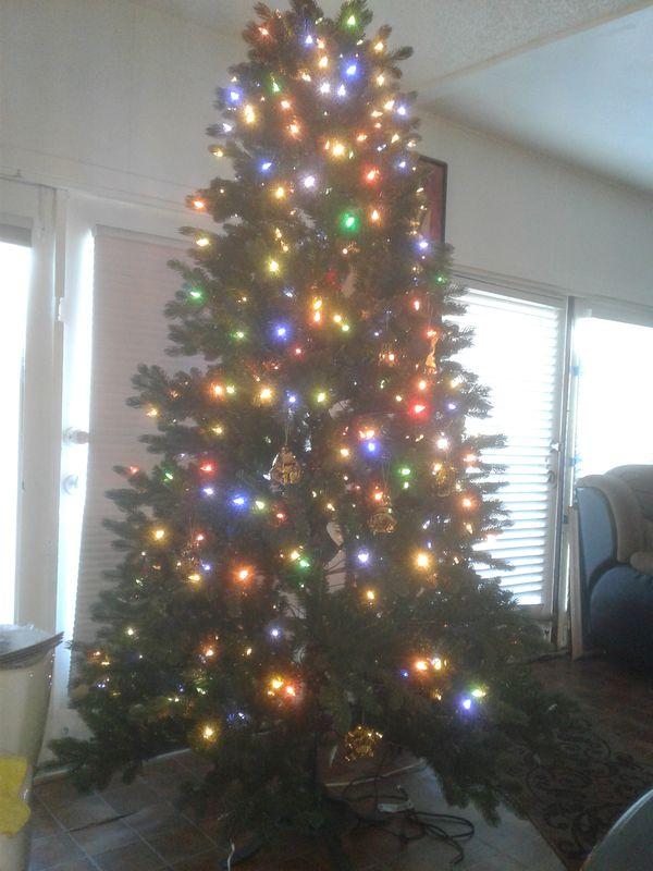Árbol de Navidad grande mide 7.5 ft nuevo sin caja luces LED ...